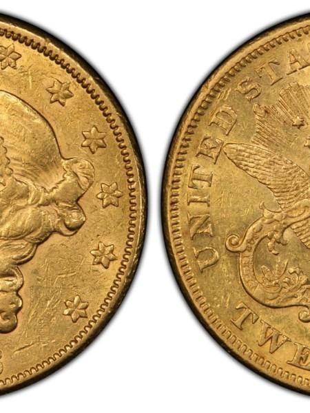 1873-CC $20 AU55 PCGS