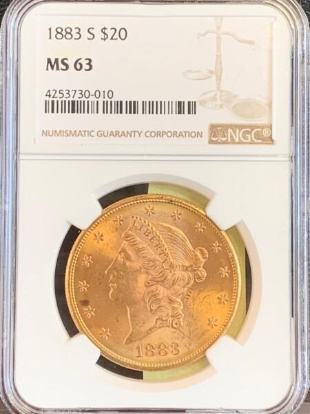 1883-S $20 MS63 NGC