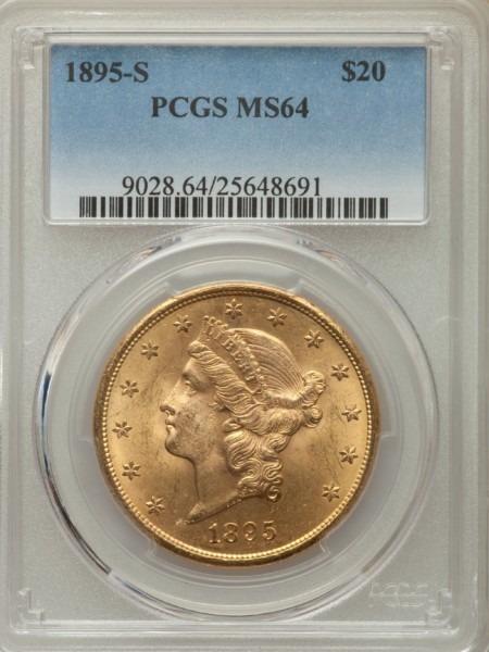 1895-S $20 MS64 PCGS