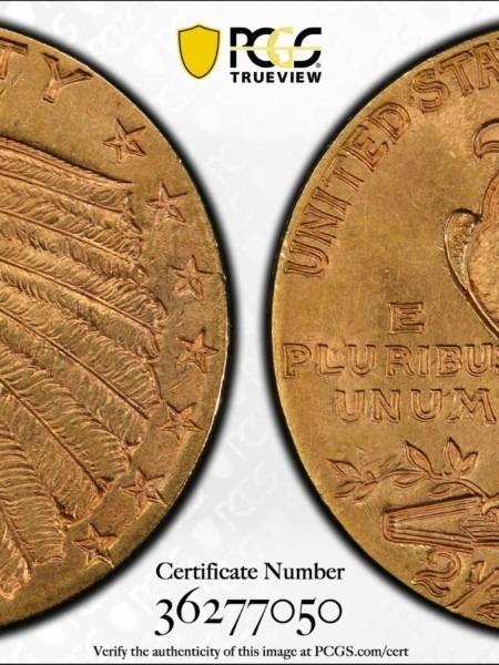1914 $2 1/2 MS64 PCGS