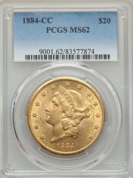 1884-CC $20 MS62 PCGS