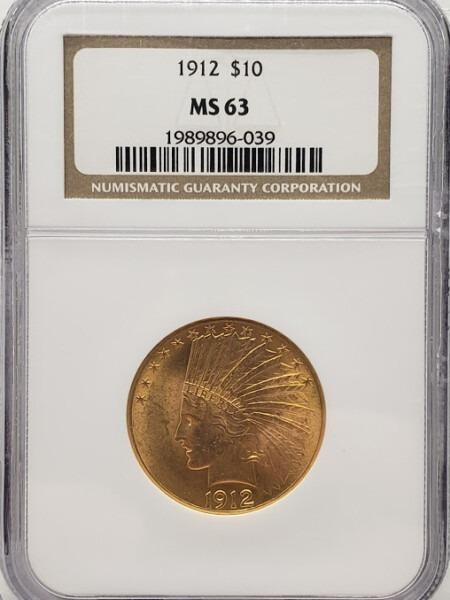 1912 $10 MS63 NGC