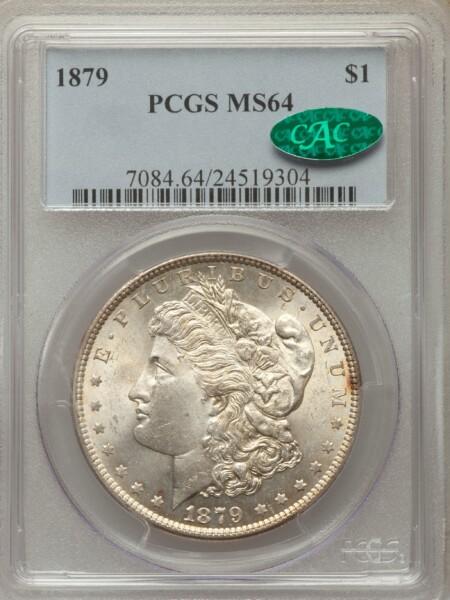 1879 S$1 64 PCGS CAC