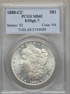 1880-CC S$1 8/High 7 65 PCGS