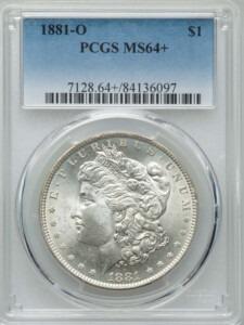 1881-O S$1 64 Plus PCGS