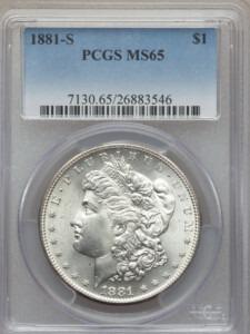 1881-S S$1 65 PCGS