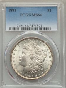 1881 S$1 64 PCGS