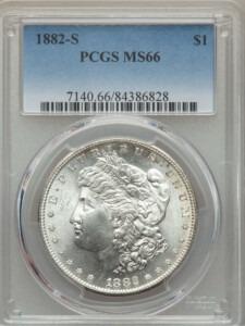 1882-S S$1 66 PCGS