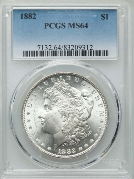 1882 S$1 64 PCGS