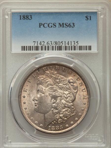 1883 S$1 63 PCGS