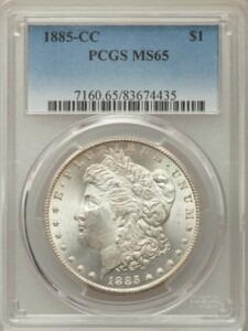 1885-CC S$1 65 PCGS