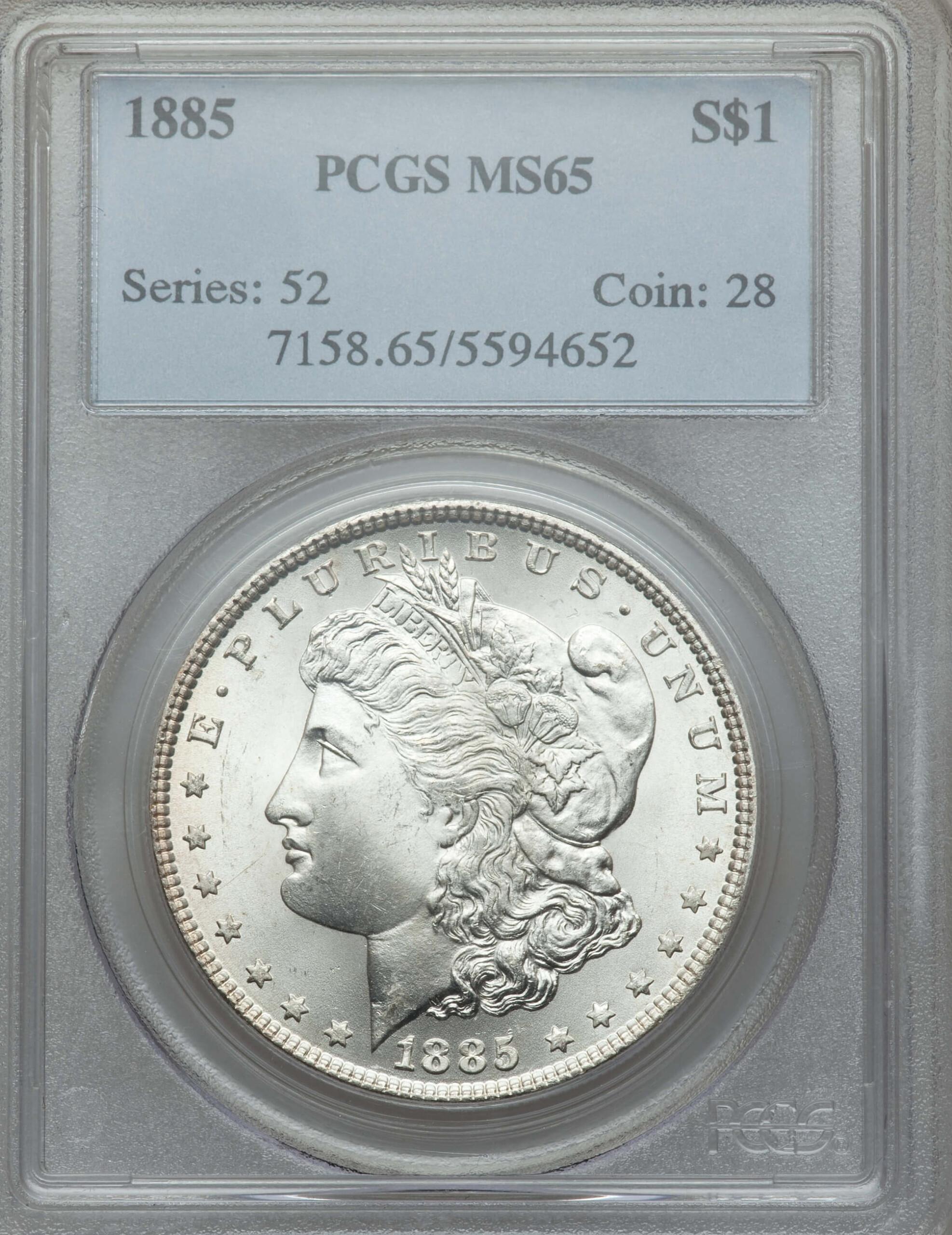 1885 S$1 65 PCGS