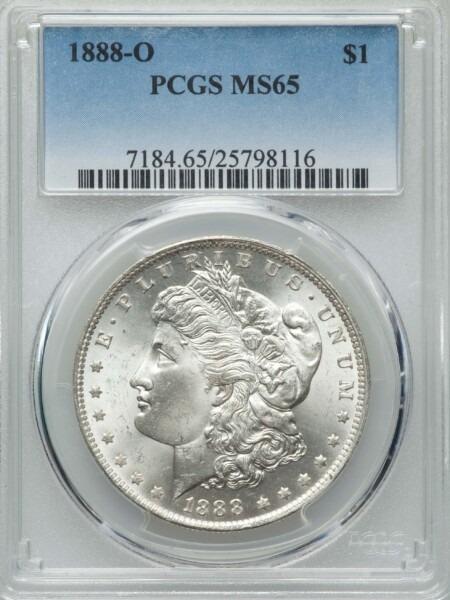 1888-O S$1 65 PCGS