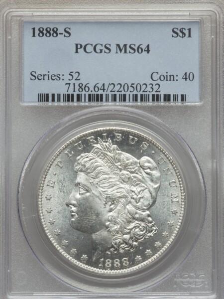 1888-S S$1 64 PCGS