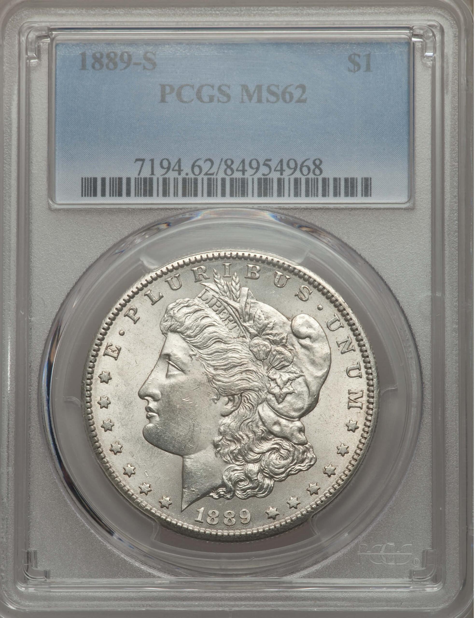 1889-S S$1 62 PCGS