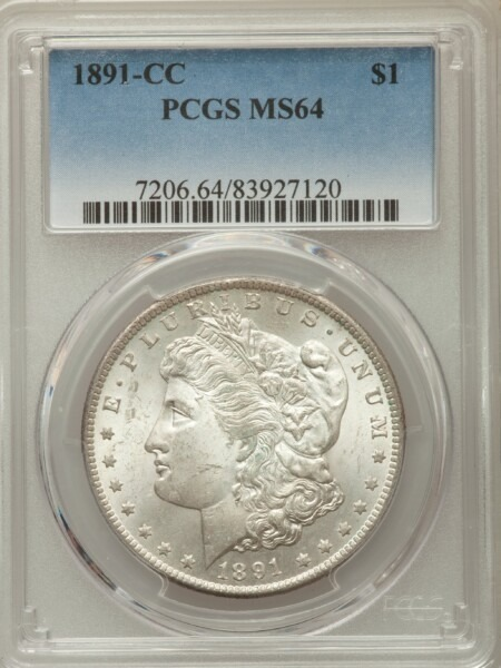 1891-CC S$1 64 PCGS