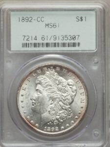 1892-CC S$1 61 PCGS OGH