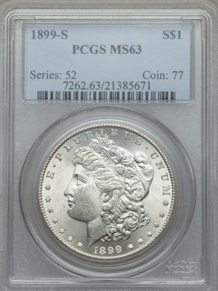1899-S S$1 63 PCGS