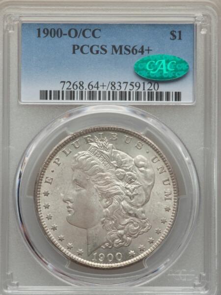 1900-O/CC S$1 64 Plus PCGS CAC