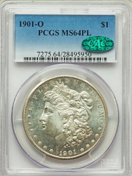 1901-O S$1, PL 64 PCGS CAC