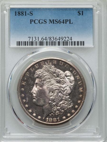 1881-S S$1, PL 64 PCGS