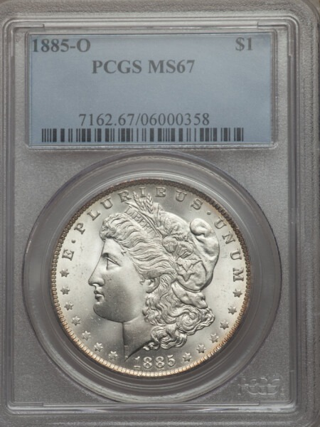 1885-O S$1 67 PCGS