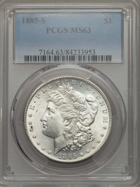 1885-S S$1 63 PCGS