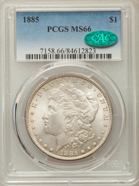 1885 S$1 66 PCGS CAC