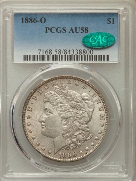 1886-O S$1 58 PCGS CAC