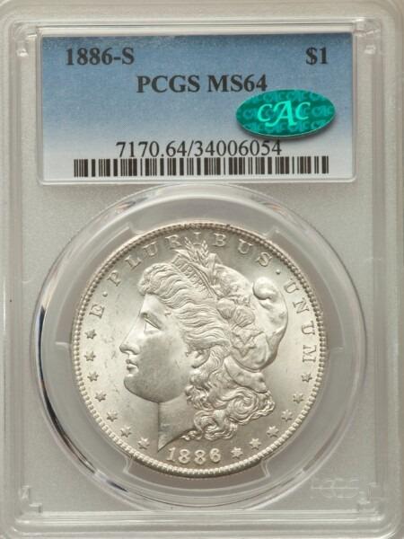 1886-S S$1 64 PCGS CAC