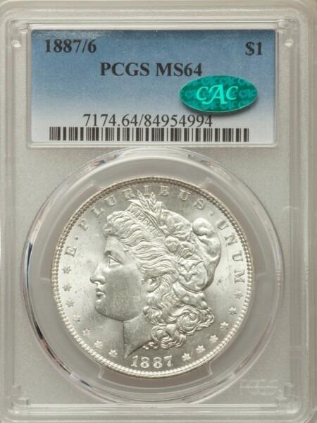 1887/6 S$1 64 PCGS CAC
