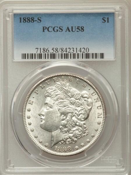 1888-S S$1 58 PCGS
