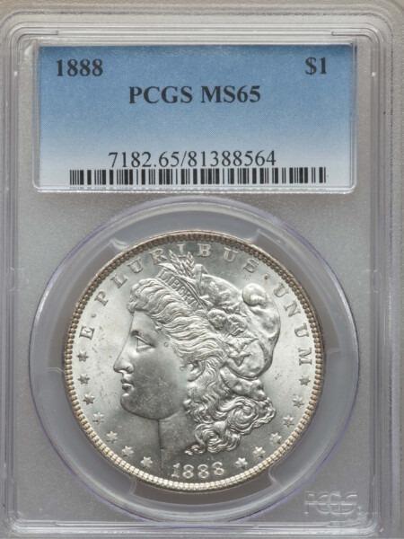 1888 S$1 65 PCGS