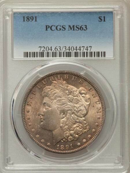 1891 S$1 63 PCGS