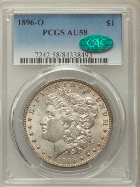 1896-O S$1 58 PCGS CAC