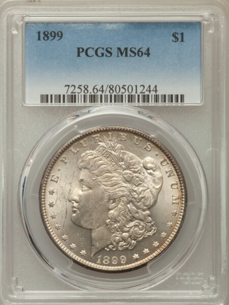 1899 S$1 64 PCGS