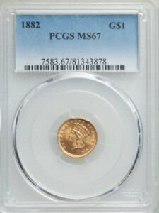 1882 G$1 MS67 PCGS