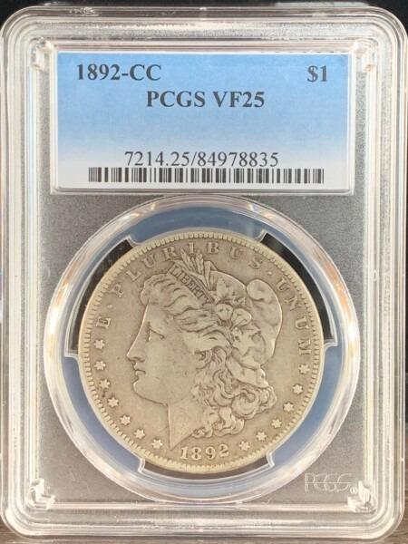 1892-CC S$1 25 PCGS