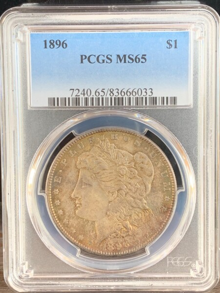 1896 S$1 65 PCGS