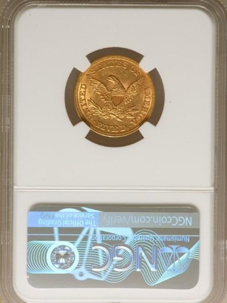 1861 $5 MS61 NGC