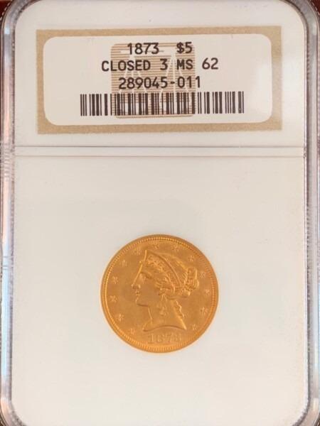 1873 $5 Closed 3 62 NGC